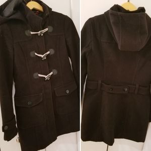 Esprit | Black Long Winter Jacket Coat Hood sz S